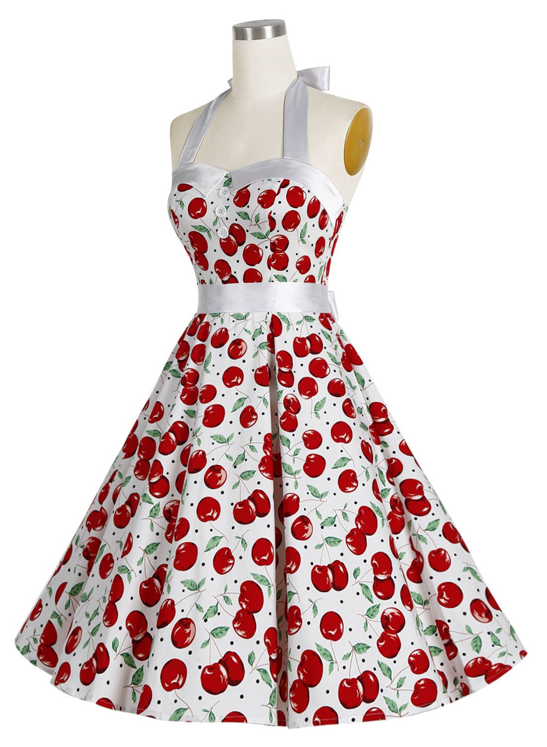 3d45ac79ea9 Galleon - Dressystar Vintage Polka Dot Retro Cocktail Prom Dresses 50 s  60 s Rockabilly Bandage Cherry2 XXL