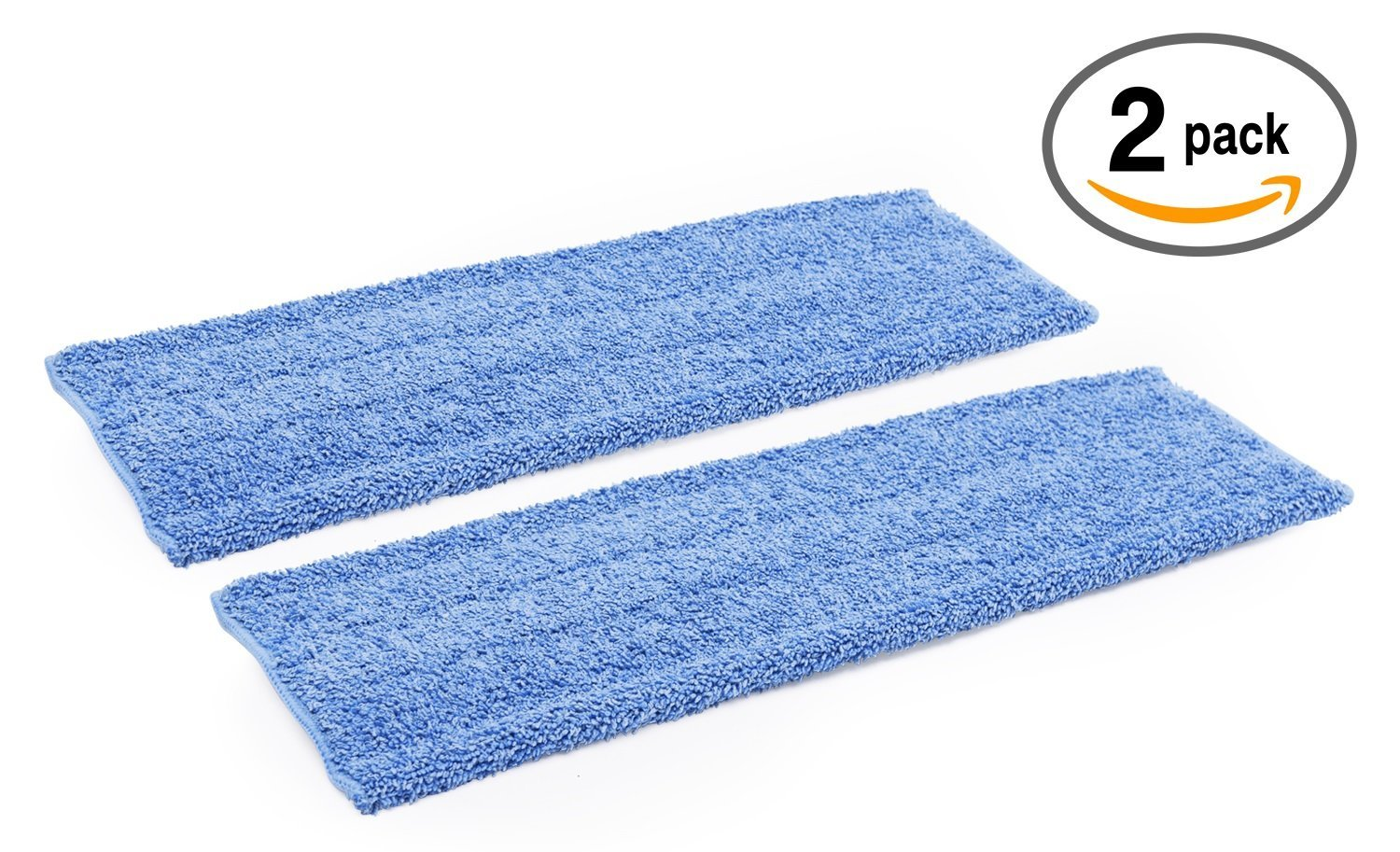 18'' Premium Microfiber Wet Mop Pad - 2 Pack | Use with our 18'' Professional Microfiber Mop by Microfiber Wholesale
