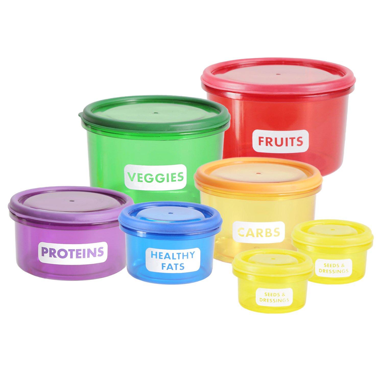 Di/ät Lebensmittel-Dosen Abnehmen durch Portionsgr/ö/ßen Goods /& Gadgets Vorratsdosen Set zur Portions-Kontrolle