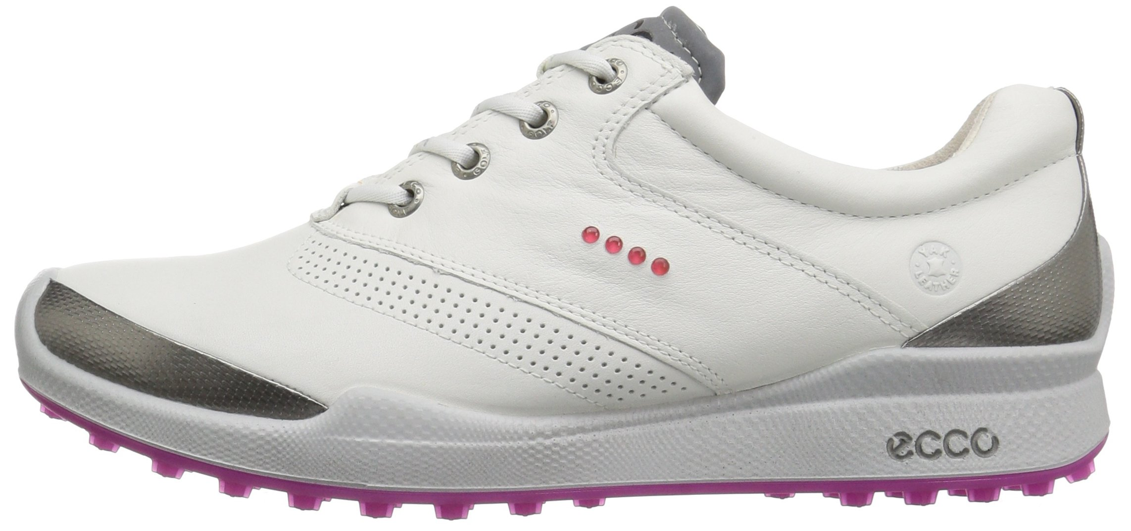 ECCO Women's Biom Hybrid Hydromax Golf Shoe, White/Candy, 39 EU/8-8.5 M US by ECCO (Image #5)