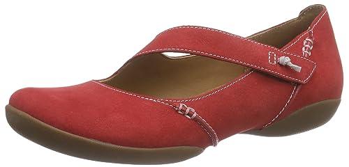 Clarks Felicia Plum - Mocasines Mujer, Red Nubuck, 35.5: Amazon.es: Zapatos y complementos