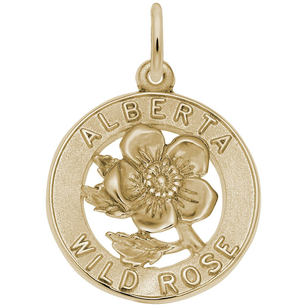 Charms for Bracelets and Necklaces 10k Yellow Gold Alberta Rose Charm