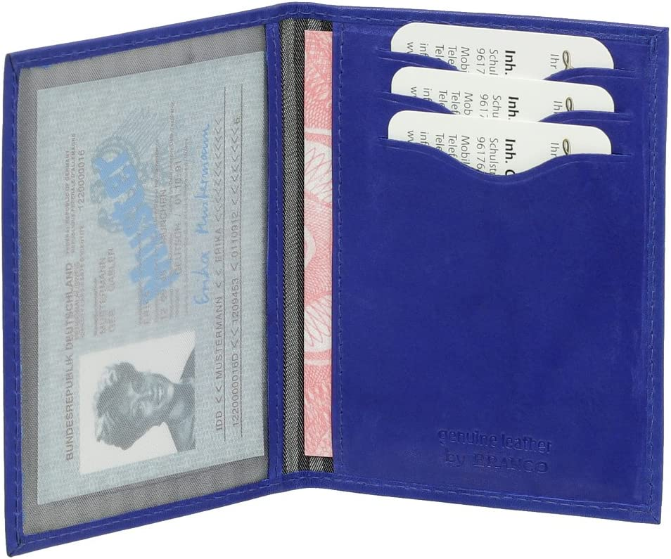 Car Documents Credit Cards Driving Licences in VariousColours Leather Card Holder for ID Cards