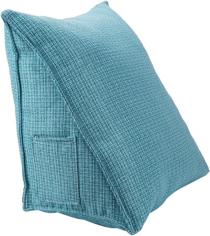 HALOViE Almohada lumbar espalda triangular almohadilla de cuña Sofá cama Silla de oficina coche cojín Ortopédico Ergonómico Mejora de la Postura desmontable 47x25x40CM