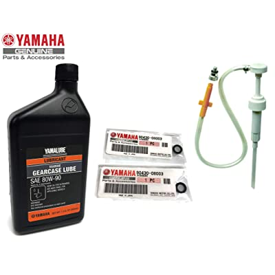 YAMAHA Yamalube OEM Outboard Gear Lube Kit w/Pump, ACC-GEARL-UB-QT Lower Unit Oil, 90430-08003-00 Gaskets 2 Stroke 4 Stroke F15 F20 F25 F40 F50 F60 F70 F75 F90 F115 F150 F175 F200 F225 F250 150 175: Automotive