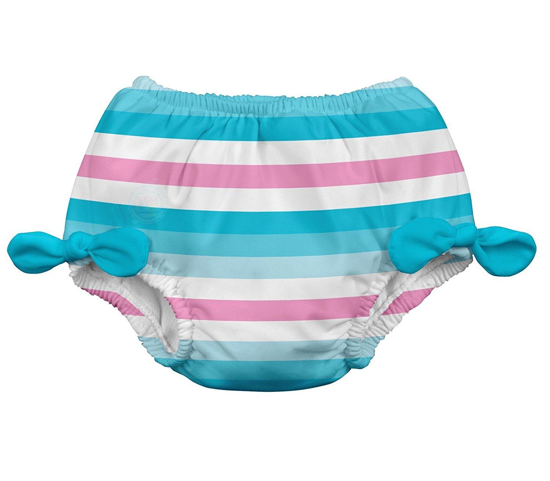 i play. 711183-634-42 - Pañal para nadar, con moño, 3-6 meses, color azul