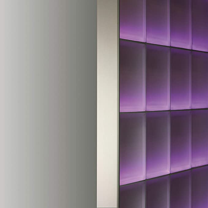 Perfil Fin de 8 cm bloques de vidrio de espesor (2,5 m, aluminio satinado): Amazon.es: Bricolaje y herramientas