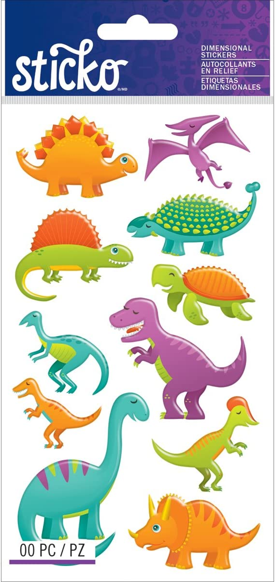 JOT 3-D Stickers Pop-Up 10 various Dinosaur Scrapbooking Crafts