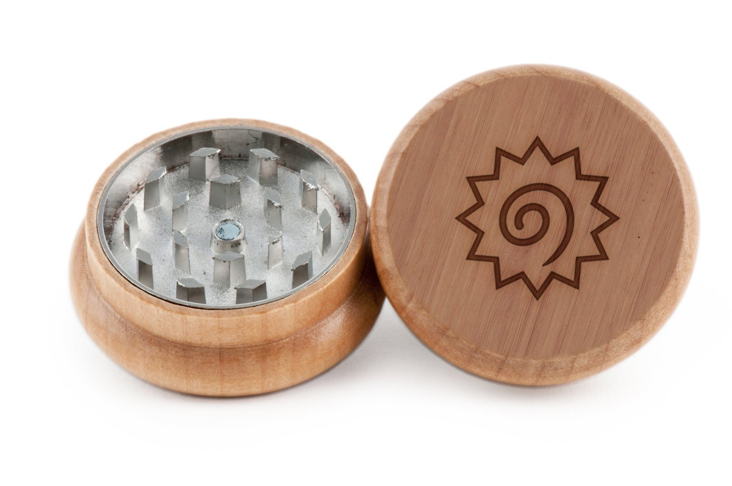 GrindCandy Spice and Herb Grinder - Laser Etched Naruto Design - Manual Oak Pepper Grinder
