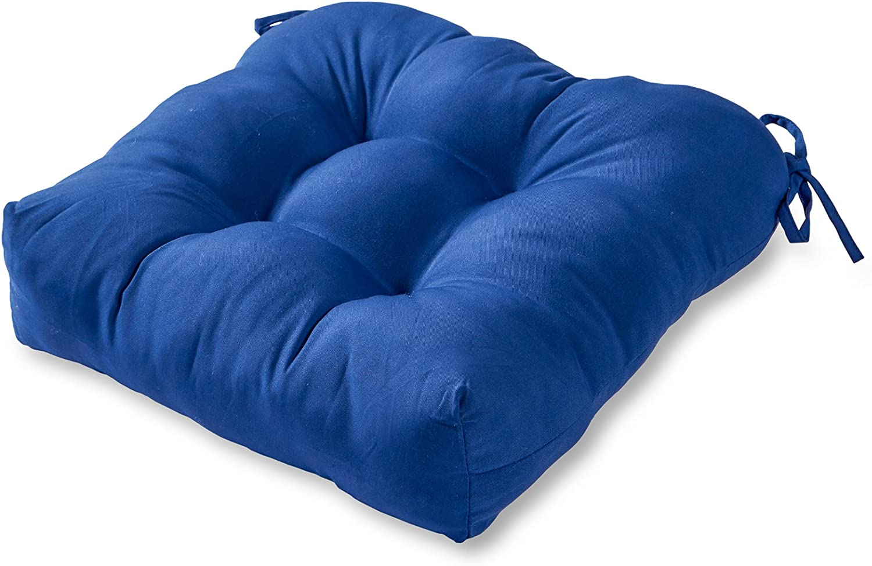 Greendale Home Fashions AZ4800-MARINE Blue 20-inch Outdoor Dining Seat Cushion