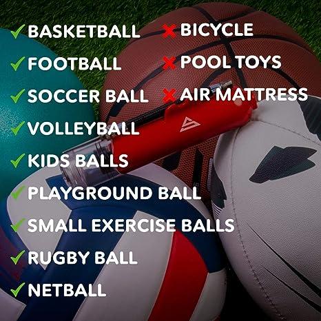 pallavolo calcio rugby HDSHIMAO Szshimao pompa a sfera per gonfiatore portatile per pallacanestro pallone da spiaggia rosso