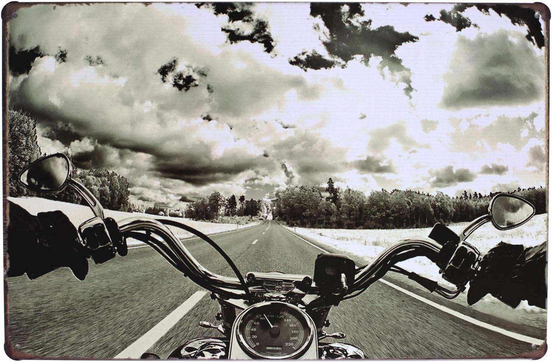 UOOPAI Ride Free Route 66 Motorcycle Retro Metal Tin Sign Rustic Wall Garage Decor Art Poster