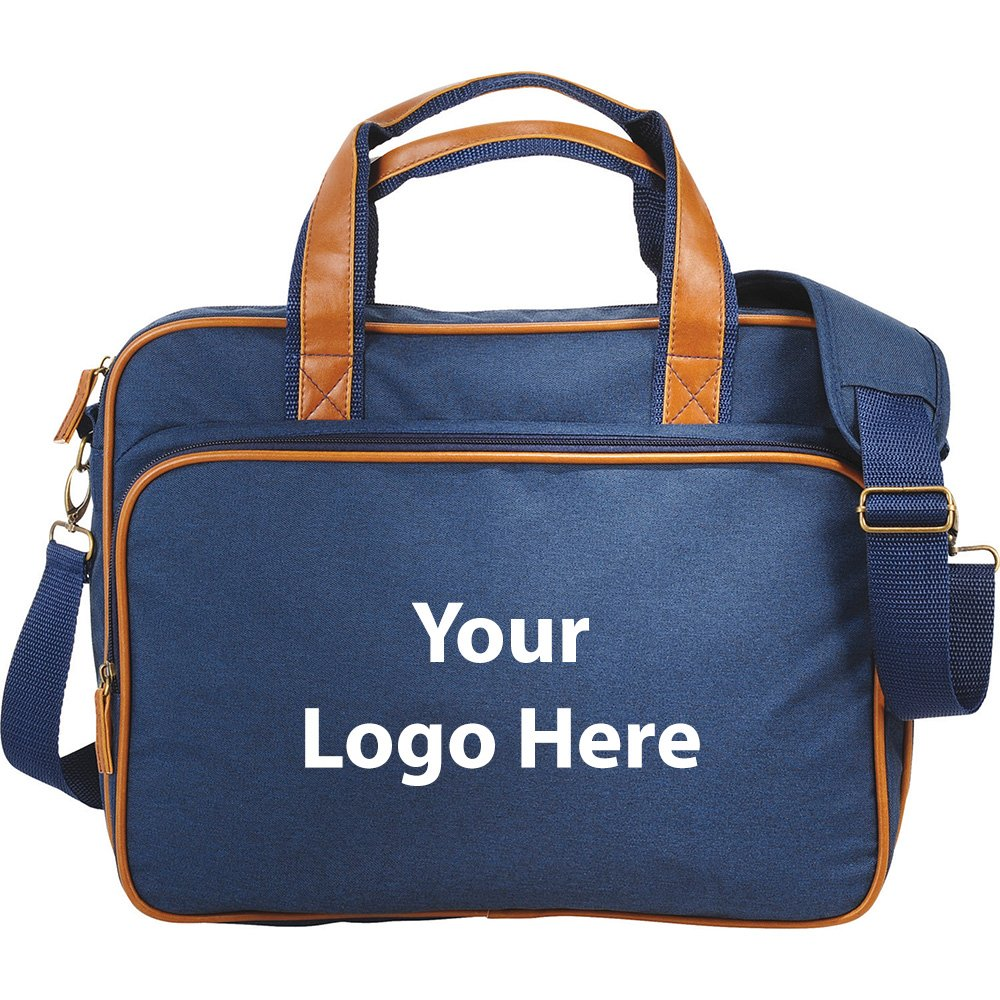 The Capitol 15' Computer Briefcase - 24 Quantity - $21.85 Each - PROMOTIONAL PRODUCT / BULK / BRANDED with YOUR LOGO / CUSTOMIZED
