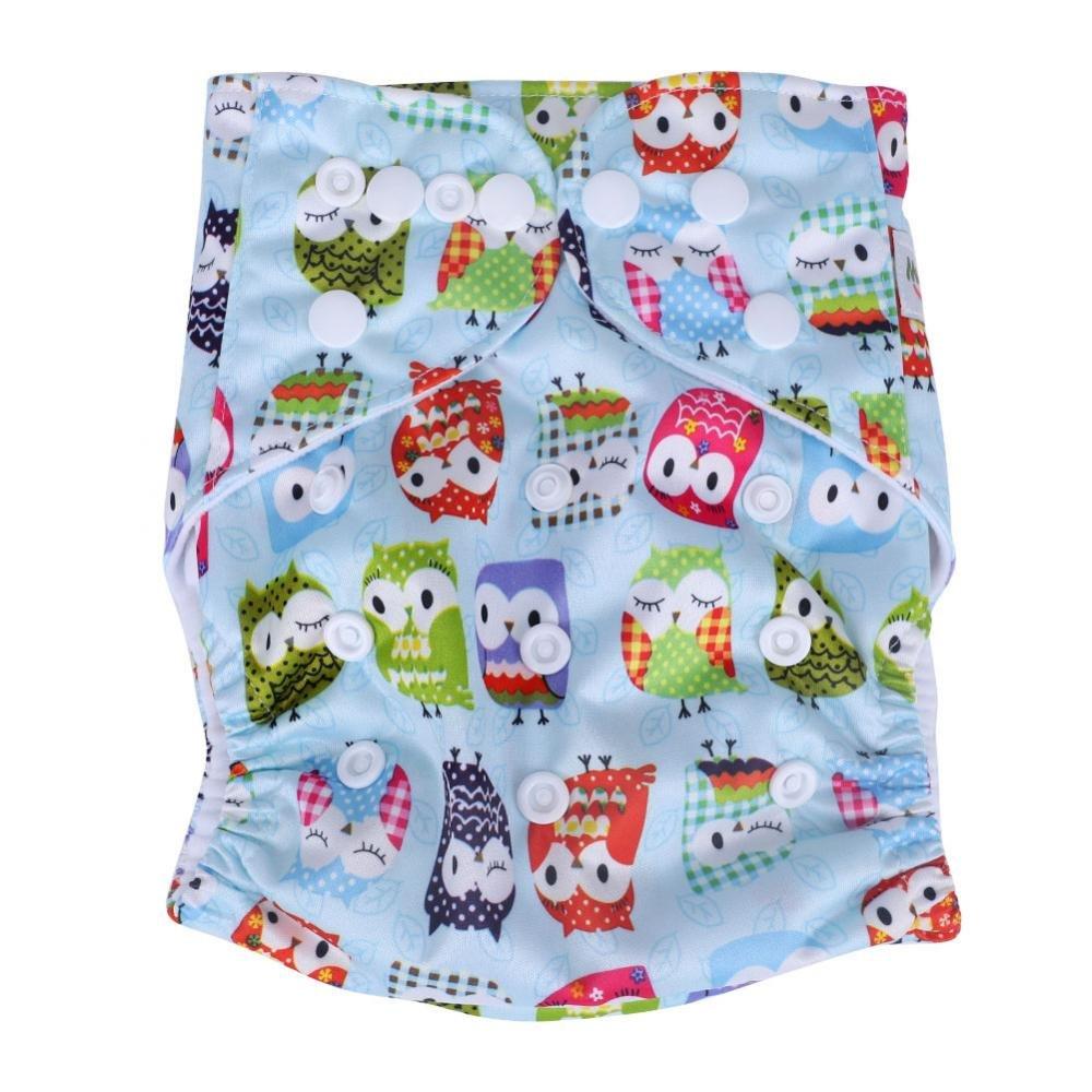 Zerodis El pañal del bebé cubre las bragas del paño lavable reutilizable estupendo suave para el niño de la niña niño pequeño infantil(#1)