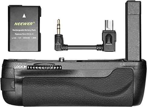 Neewer Pro Vertical Battery Grip Holder Replacement for BG-2P Compatible with Nikon DF DSLR Camera and EN-EL14A Batteries