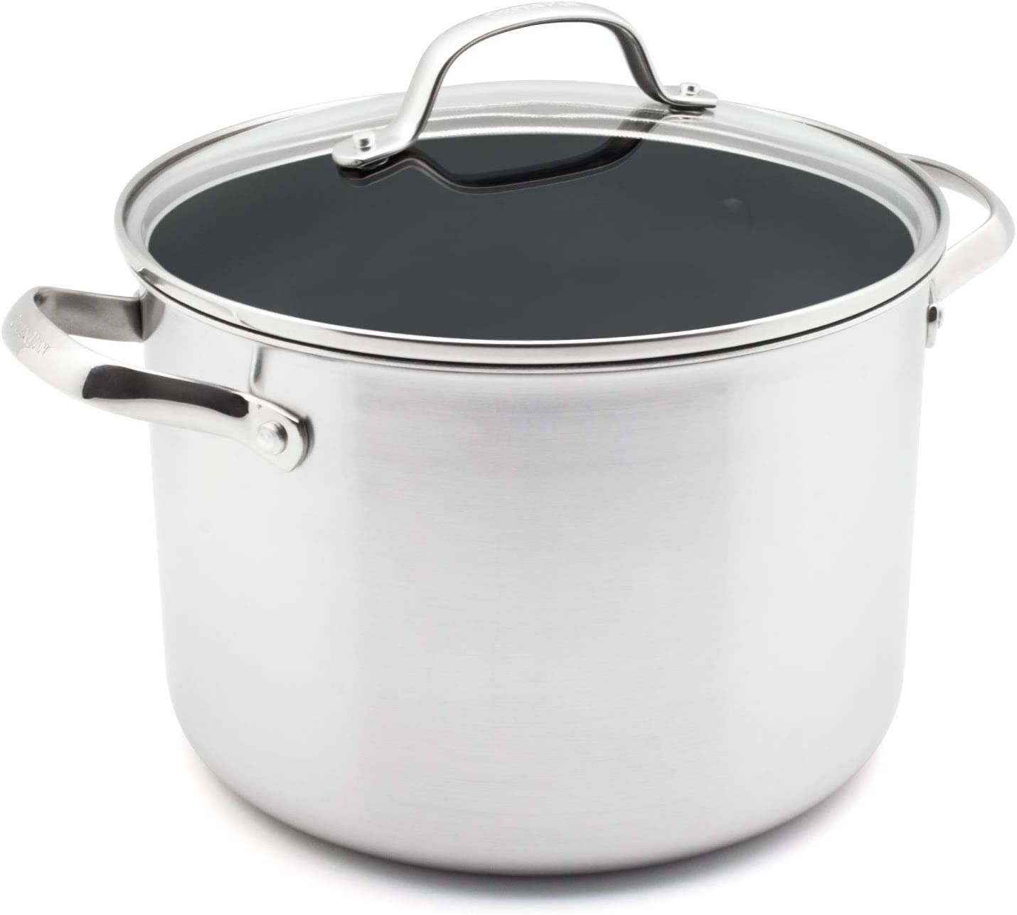 GreenPan Elements Non-Stick Stockpot with Lid, Silver