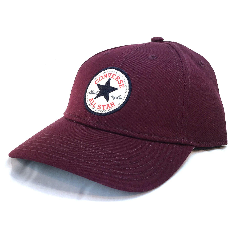 Converse Unisex Core Classic Twill Curved Baseball Cap Deep Bordeaux Hat