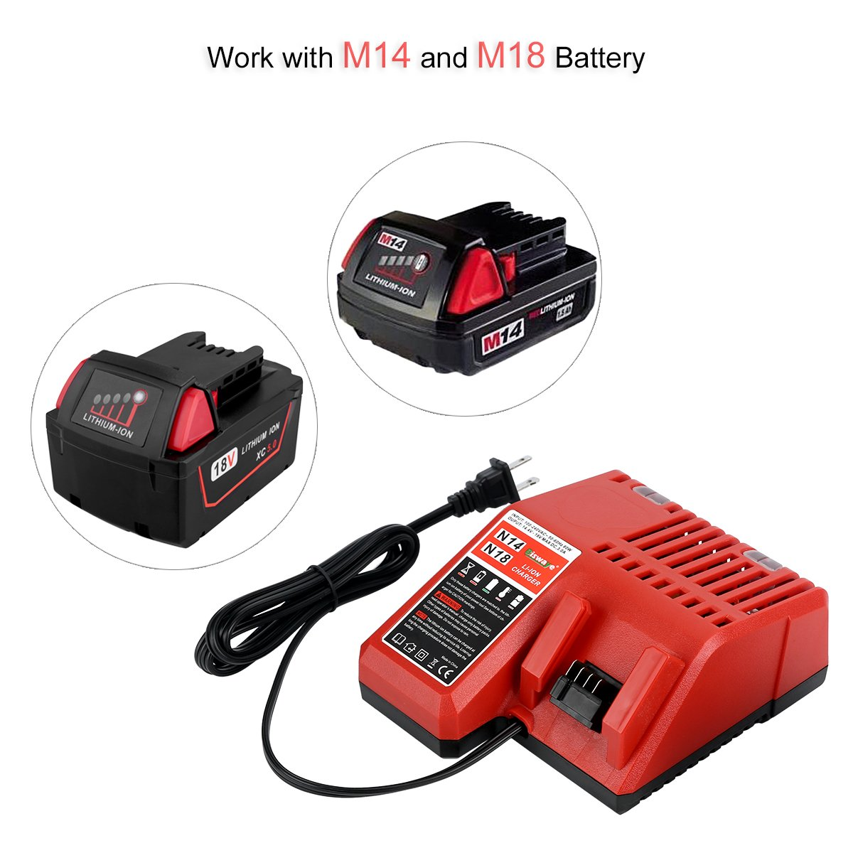 Replacement Lithium Ion Battery Charger Multi Voltage For 37 X Chargers Circuits And Projects Milwaukee M18 144v 18v 48 11 1850 1840 1815 1828