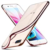 """iPhone 8 Plus Case, iPhone 7 Plus Case, ESR Slim iPhone 8 Plus Clear Soft TPU Cover with Rose Gold Electroplated Frame for Apple 5.5"""" iPhone 8 Plus(2017)/iPhone 7 Plus(2016)(Rose Gold)"""