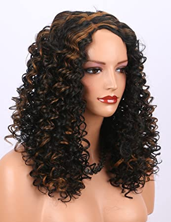K ryssma Black Curly Wig Full Machine Made Cheap Synthetic Wigs for Women  Shoulder length 265fc97ff0