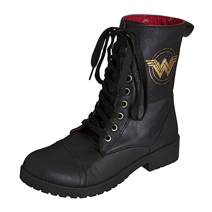 sempre popolare vendita economica super speciali WONDER WOMAN Donna Stivali Logo DC Comics Nero - 36: Amazon.it ...