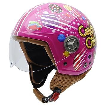 NZI 050328G904 Zeta Candy Crush X-Plosion, Casco de Moto, Talla 57 (