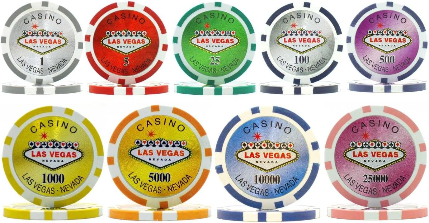 25 Poker Chips Red Diamond 8.5 g Clay Composite