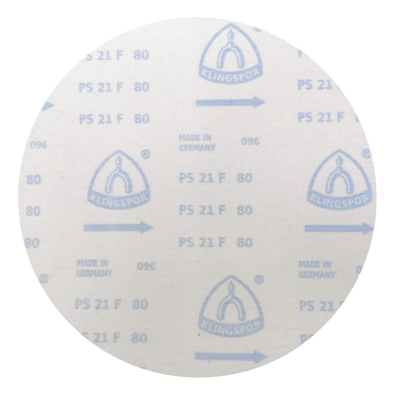 | 5 St/ück /Ø 300 mm Klingspor PS 21 FK Schleifscheibe GLS 0 ungelocht K/örnung: 100