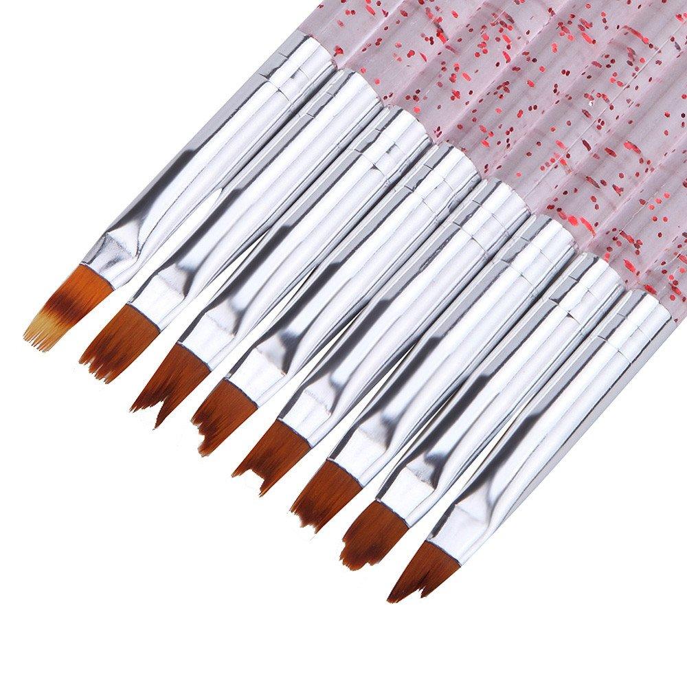 fanxing Gemälde Werkzeuge DIY 8French Acryl Gel Malen Stift-Set Nail Art Pinsel Maniküre Zeichnen Werkzeuge, mehrfarbig