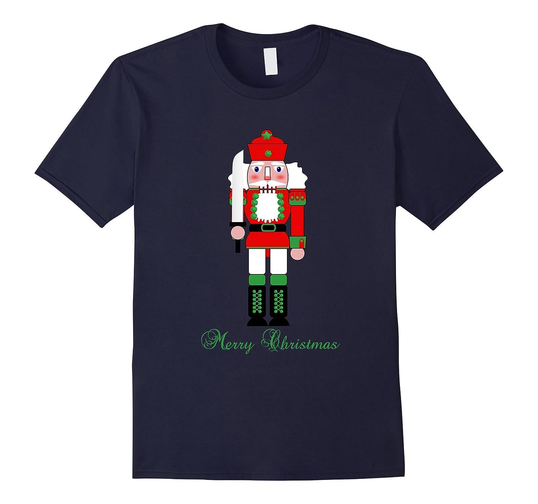 Merry Christmas Red & Green Nutcracker Holiday T Shirt Top-ANZ