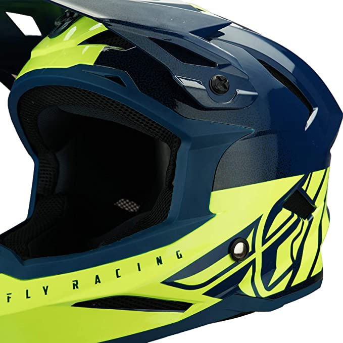 Teal//Yellow XS Fly Racing 2019 ADULT Default Dither MTB Downhill BMX Helmet