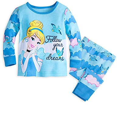 Amazon.com  Disney Cinderella PJ PALS Pajamas for Girls Blue  Clothing 01250a68b