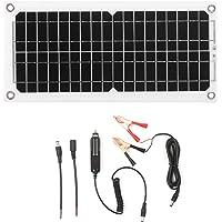 Kstyhome Kit de panel solar de 120 W y 12 V con controlador de carga Puerto USB Módulo monocristalino fuera de la red con kits de cable de conexión SAE para Camping Car Boat Marine