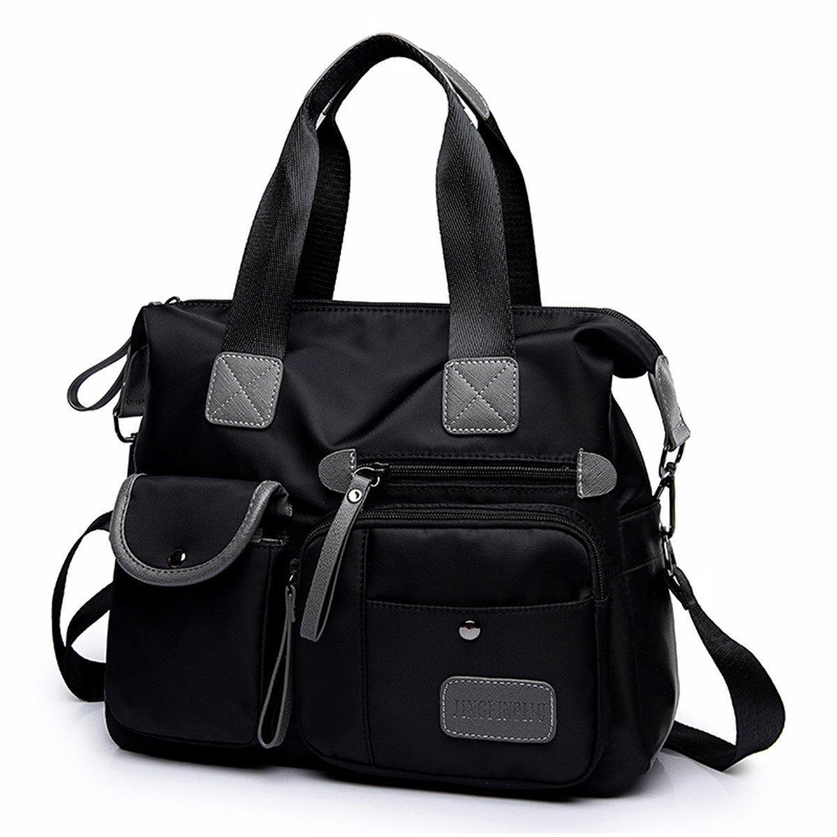 33d2a16d7f Amazon.com  Taoqiao Korean canvas bag ladies bag shoulder bag nylon Oxford  handbags Messenger bag crossbody bag tote simple big bag black  Home    Kitchen