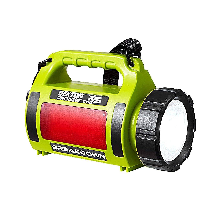 DEKTON Pro Light Breakdown XS LED COB Taschenlampe, 600 Lumen, 1000 m wiederaufladbare Batterien, super hell, wasserabweisend, tragbar Outdoor Suchlicht für Notfälle, Angeln, Wandern, Stromausfälle
