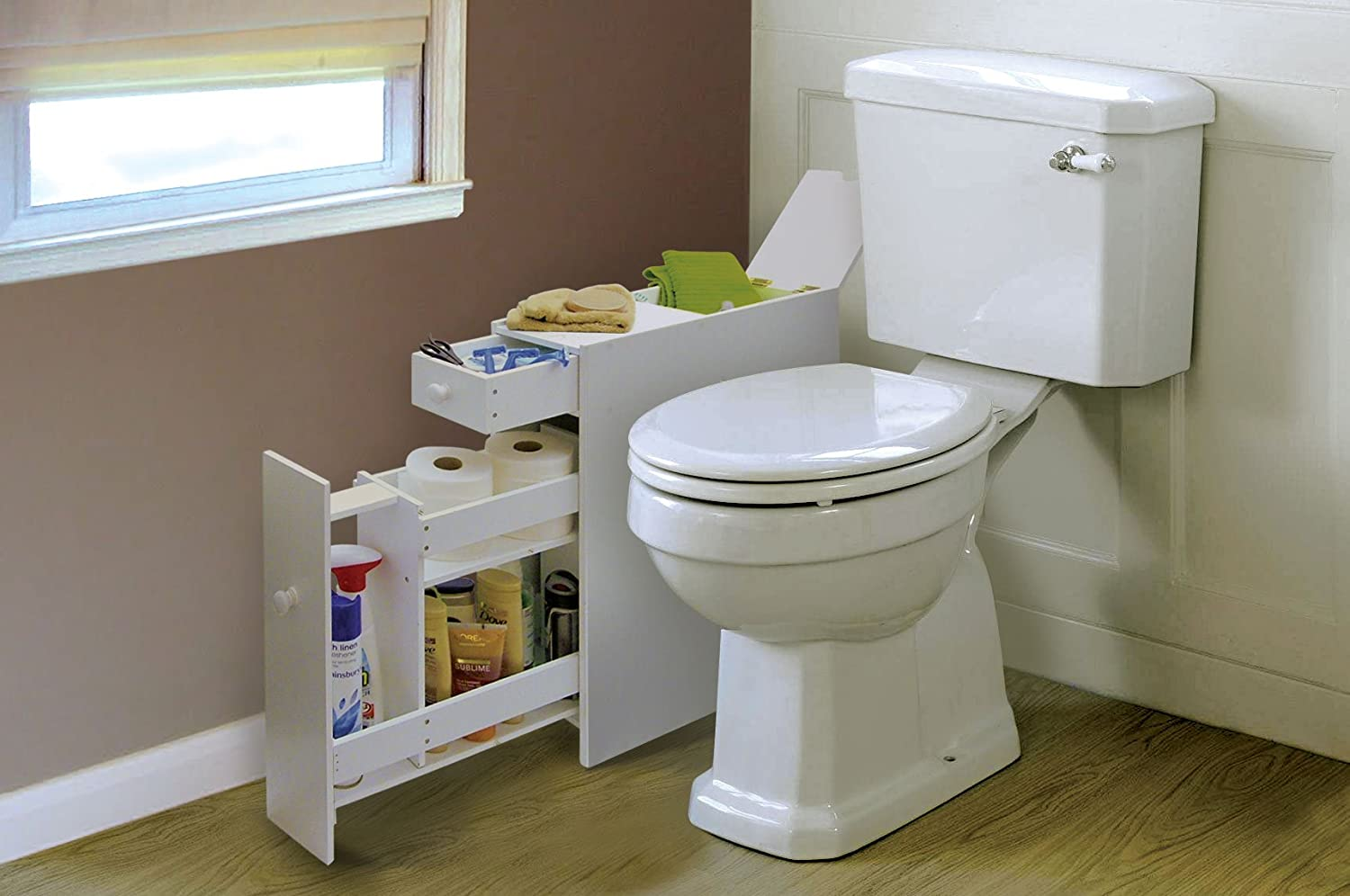 Slimline Space Saving Bathroom Storage Cupboard: Amazon.co.uk: Kitchen &  Home