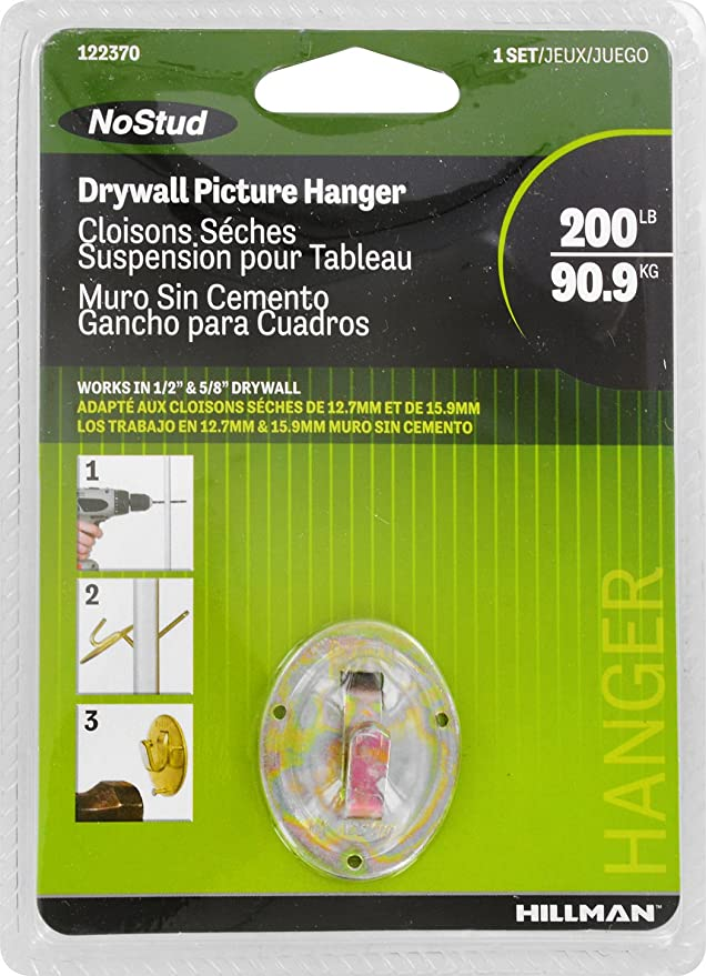 The Hillman Group 122370 No Stud Drywall Picture Hanger Christmas