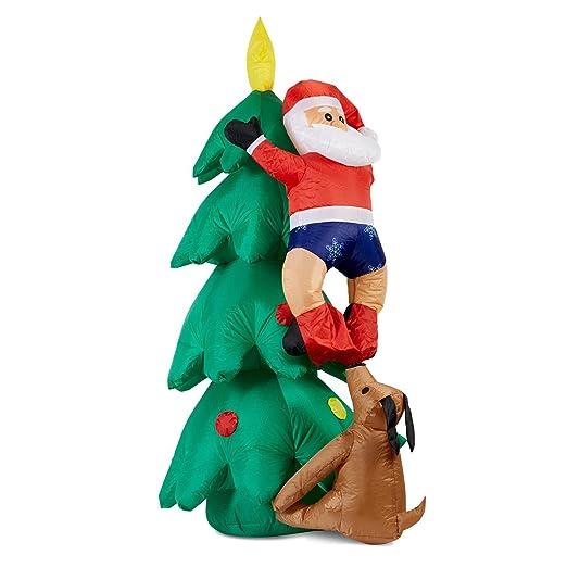 Oneconcept Santa on Tree Figura Papa Noel Inflable (150 cm Altura ...