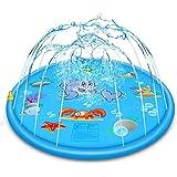 """وسادة رش للرش للأطفال 68"""" من أجل 1 2 3 4 5 سنوات من سن تودلر للأطفال الأولاد والبنات من عمر السنين، ألعاب مياه القرش قابلة للنفخ ممتعة للاستخدام في الهواء الطلق"""
