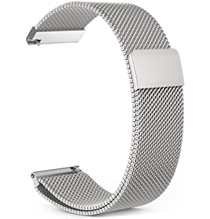 Amazfit Bip Band,ViCRiOR Magnet Lock Quick Release Milanese Loop Stainless Steel Replacement Watch Strap