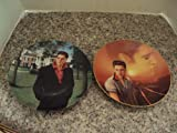 2 Elvis Presley Delph Coll Plates Mystery