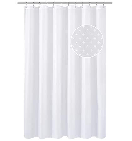 NY HOME Hotel Fabric Shower Curtain Liner Or Mildew Resistant Washable