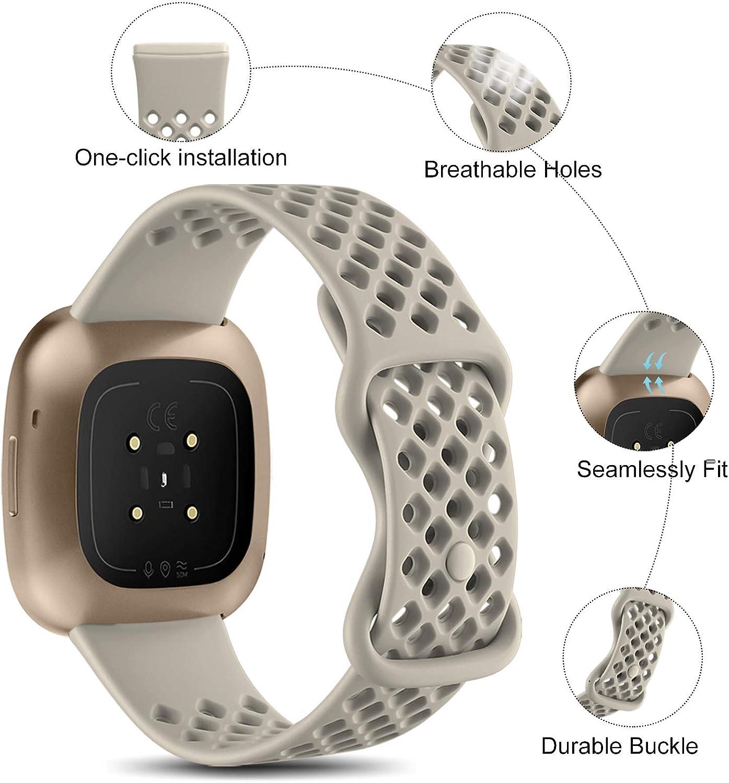 Malla para reloj Fitbit Sense/Fitbit Versa 3 (gris, talle L)