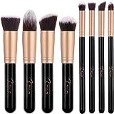 BESTOPE Premium Synthetic Makeup Brushes Makeup Brush Set Cosmetics Foundation Blending Blush Eyeliner Face Powder Brush Makeup Brush Kit (Black Gold)
