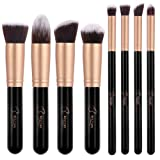 BESTOPE Makeup Brushes Premium Cosmetic Makeup Brush Set Synthetic Kabuki Makeup Foundation Eyeliner Blush Contour Brushes for Powder Cream Concealer Brush Kit(8PCs, Rose Gold)