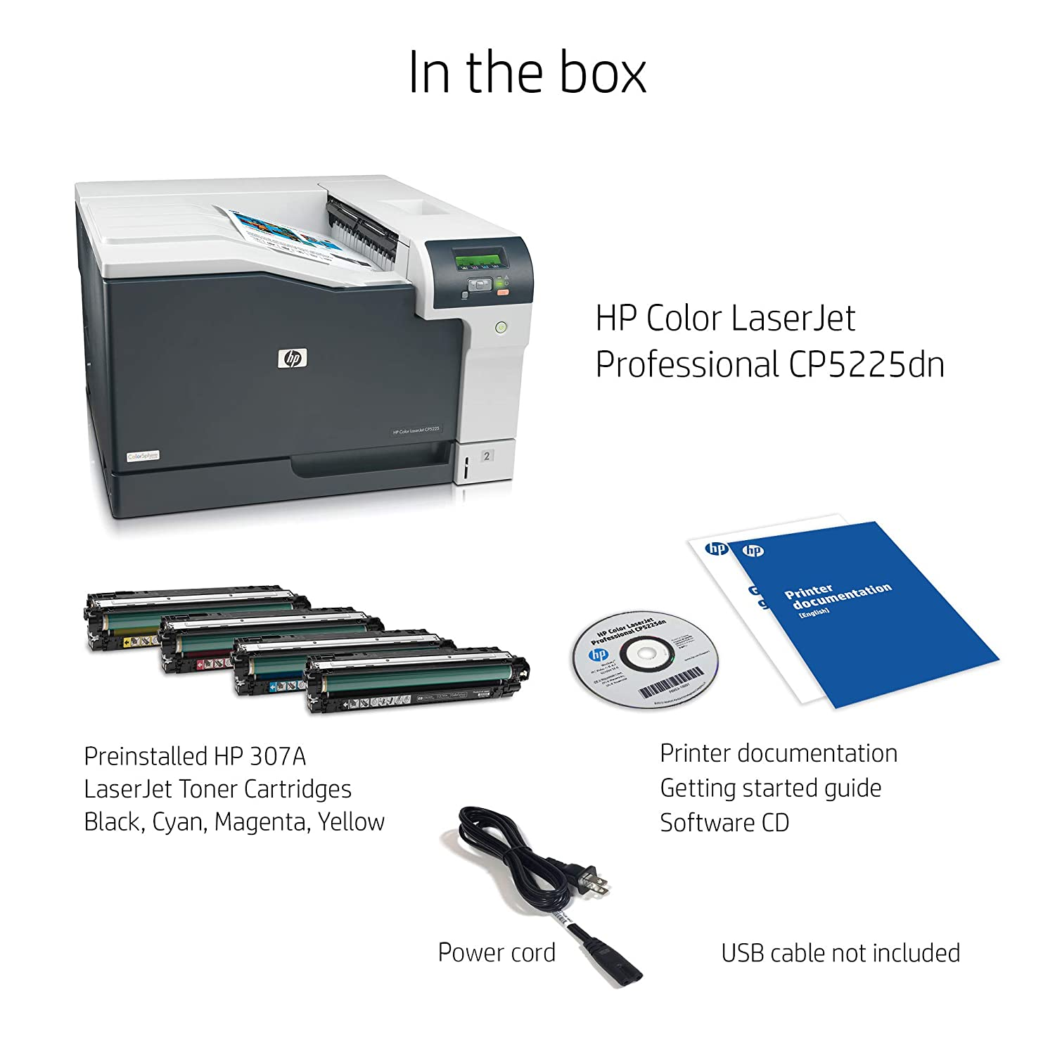 Amazon.com: HP Color LaserJet Professional CP5225dn Printer (CE712A) Auto  Duplex: Electronics