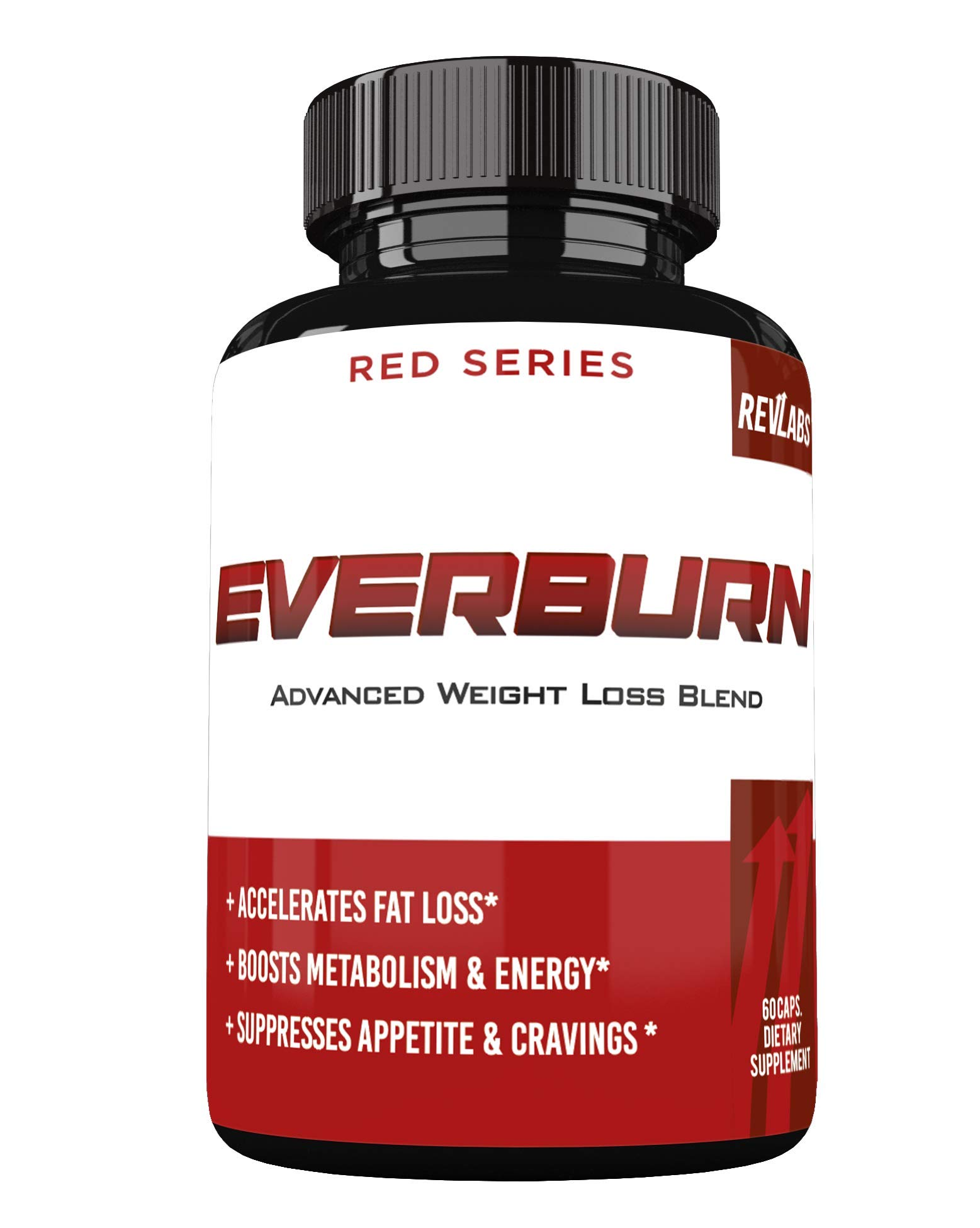 Ever Burn Advanced Weight Loss Blend - Appetite Suppression with Metabolism Support - Increased Energy & Focus - 60 Capsules