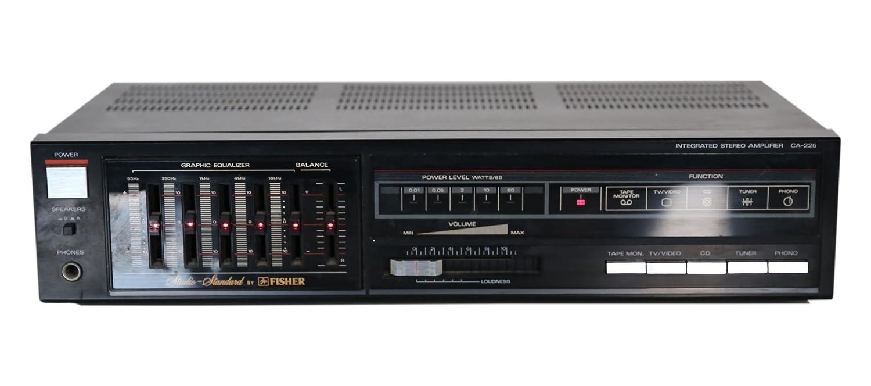 Studio estándar de Fisher CA 225 amplificador estéreo en negro: Amazon.es: Electrónica