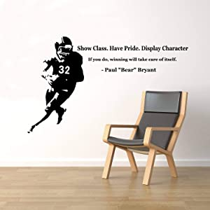 Diuangfoong Paul Bear Bryant Quote Wall Decal Vinyl Sticker Football Player Home Sport Interior Removable Art Decor