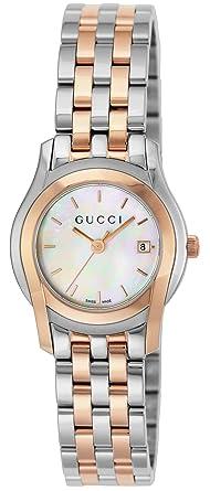 52831d1f97f2 [グッチ]GUCCI 腕時計 Gクラス ホワイトパール文字盤 ステンレス/ステンレス(PGPVD